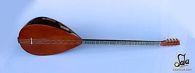 Turkish Quality Long Neck Walnut Baglama Saz For Sale Asl-402G
