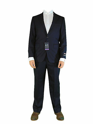Austin Reed Mens Dark Navy Herringbone 100 Wool New Office Suit Jacket 48l 109 00 Picclick Uk