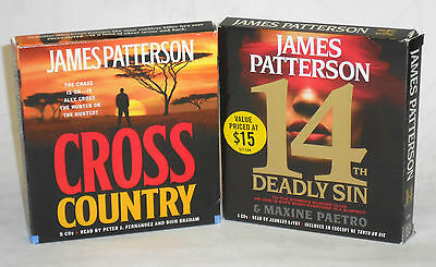Two (2) James Patterson  Audiobooks on CD- Cross Country and 14th Deadly Sin
