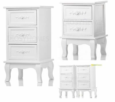White Rose Wooden 2 Or 3 Drawers Bedside Tables Cabinet Nightstand,furniture