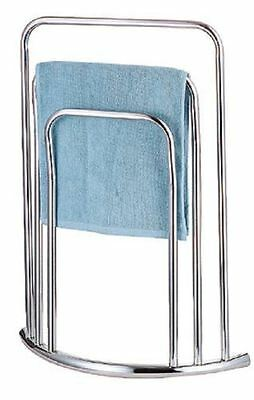 Bow Fronted Curved Design Chrome 3 Tier Free Standing Towel Stand