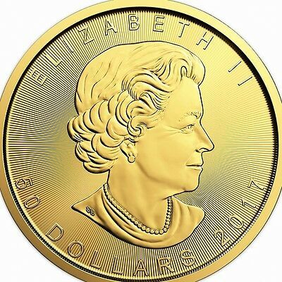 1 Oz 2017 Gold Maple Leaf Bullion Coin From The Royal Canadian Mint