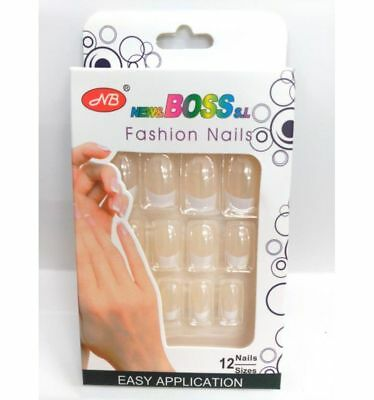 Faux ongles french manucure 12 ongles maquillage capsules beauté