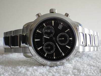 Bulova Men's Quartz Watch Black Dial Chronograph BNIB