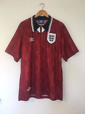 Retro ENGLAND 1994/95 *MINT* Away Football Shirt (XL) Vintage Soccer Rare Top