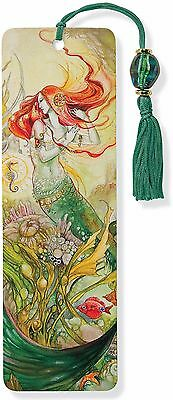 Bookmark Beaded Mermaid Art Inspirational Quote Fun Cheap Gift Reading Book