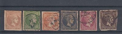 Greece 1861 Early Hermes Stamps Used Hinged No Gum (#1791)