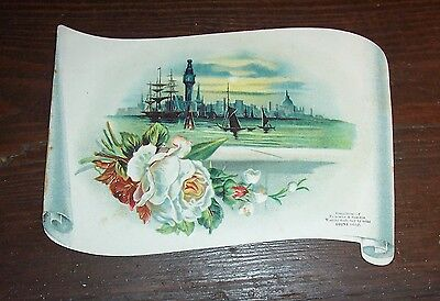 "TRADE CARD - Die-Cut 6"" x 4"" in size - Fairchild and Shelton  -  OZONE  SOAP"