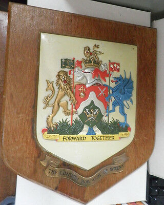 "Shield ""The London Borough Of Brent"" Coat of Armour Plaque Forward Together."
