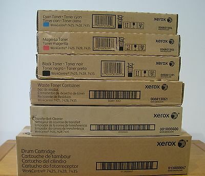 Xerox BMC Toners - Drum - Waste - Transfer Belt Cleaner 7425 7428 7435