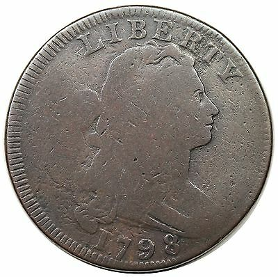 1798 Draped Bust Large Cent, Reverse of '95, S-155, R.3, nice G