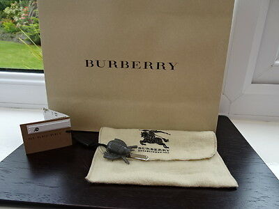 100% Authentic Burberry Grey Beetle Tie Clip Brand New
