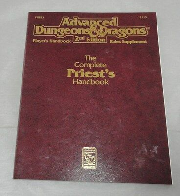 Advanced Dungeons & Dragons  The Complete Priest's Handbook TSR2113 AD&D PHBR3
