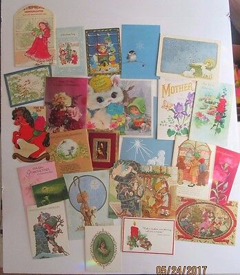 Vintage Large Lot UNUSED and USED Greeting Cards ALL OCASSION