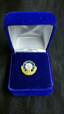 IBEW ELECTRICAL WORKERS Pin for 55 years service with Diamond in Original Box