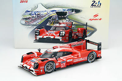 Porsche 919 Hybrid #17 2nd 24h LeMans 2015 Bernhard, Hartley, Webber 1:18 Spark