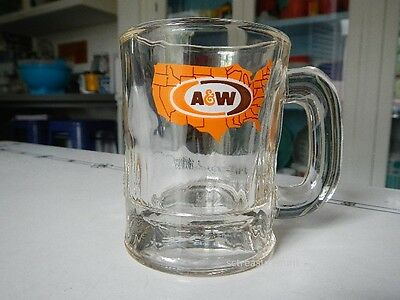 Vintage A&W Rootbeer A W Root Beer Glass Mug Mini Small Child's Baby Map Logo