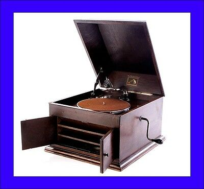 Antique His Master's Voice Table Phonograph-Gramophone. Model 103. England, 1925