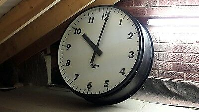 Huge Gent Station / Factory Clock - nearly 3 feet in diameter!!!