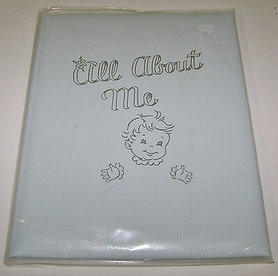 Vintage All About Me Blue Baby Book Album Boy C.r. Gibson New Unused 1956