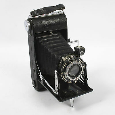 Vintage Ensign Folding Camera With Ensar Anastigmat F4.5 100mm Lens