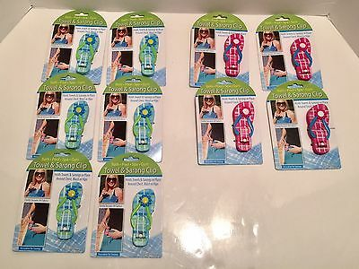 Lot Of 10 Towel and Sarong Clip for Bath Pool Spa and Gym Brand New