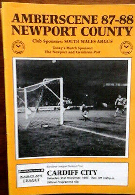 Newport V Cardiff 21/11/1987 League Last Season