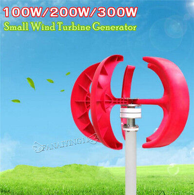 100W/200W/300W 12V/24V Vertical Axis Wind VAWT House Boat Turbine Generators