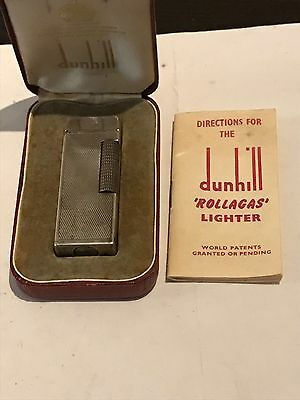 Dunhill rollagas original box and booklet Early 1960 barley pattern Switzerland