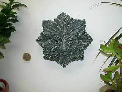 Green man wiccan pagan celtic  garden ornament frost and weather proof gift