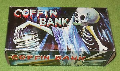coffin bank vintage in box works horror halloween collectible novelty ever last