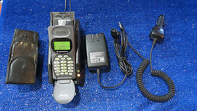 Vintage Motorola M70A Cell Phone with Extra Battery, Wall and Car charger + Case
