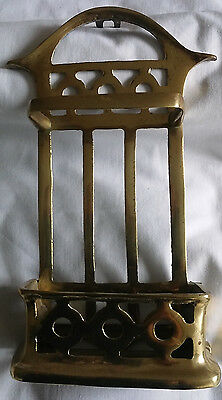 Antique Ornate Heavy Solid  Brass Church Candle Box Holder