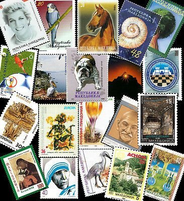 Macedonia / Complete stamps collection from 1992-2017 (including last stamp)