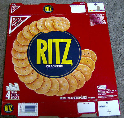 RARE vintage 1986 RITZ CRACKERS box NABISCO food packaging cardboard product