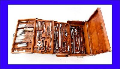 Important Antique Military Surgery Set with Tools. Circa 1900