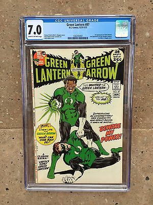 Green Lantern 87 !! Cgc 7.0 !! 1St John Steward !! Key !! Hot!!