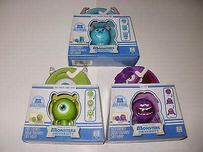 3 X Monsters University Roll A Scare Figures SULLEY, MIKE & ART, BNIB Brand New.