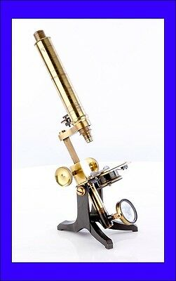 Antique Compound Microscope in Good Condition. England, Circa 1900