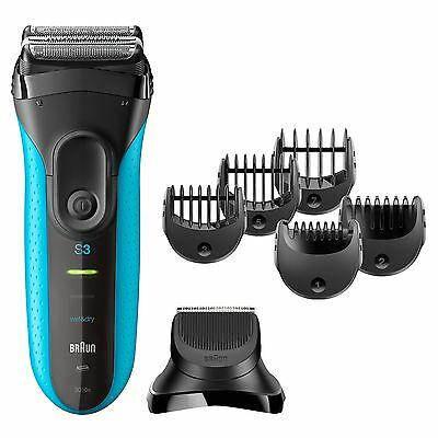 Braun Series 3 Shave & Style 3010BT 3-in-1 Electric Wet & Dry Shaver / Razor ...
