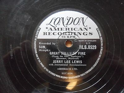 Jerry Lee Lewis Great Balls Of Fire 78rpm Record On London American Recordings