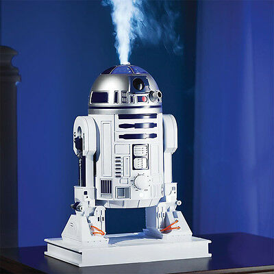 "Star Wars R2D2 Ultrasonic CoolMist 7.8""  OfficeDeskRoom Humidifier Collectible"