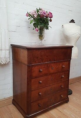 Rare Antique French Compact Dressing Table /  Drawers - C1900