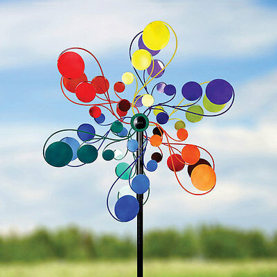 Psychedelic Garden Spinner - Bright Colorful Dots Garden Lawn Decor