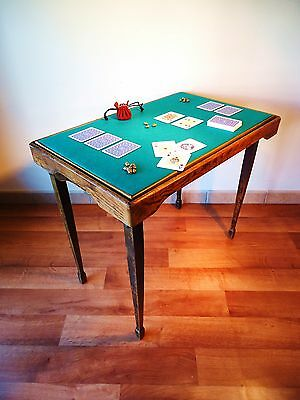 Mesa De Juego Plegable Vintage Años 20. / Vintage Folding Game Table Of 1920´s