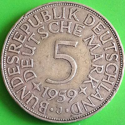 1959 J Germany 5 Mark Silver Coin