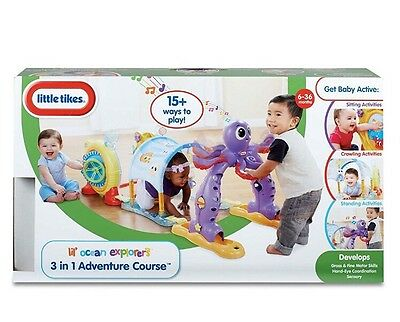 NEW Little Tikes Lil' Ocean Explorer 3-In-1 Adventure Course Activity Toy