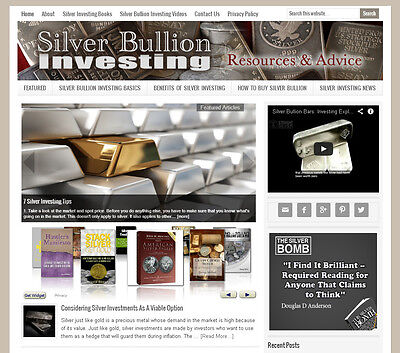 * SILVER INVESTING * turnkey niche website business for sale w/ AUTO CONTENT