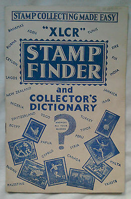 XLCR Stamp Finder And Collectors Dictionary Sixties Edition