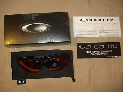 9316-07 NEW POLARIZED OAKLEY THINLINK MATTE BLACK w/ TORCH IRIDIUM POLAR LINK